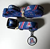 Arizona University Wildcats Pet Set Dog Leash Collar ID Tag MEDIUM