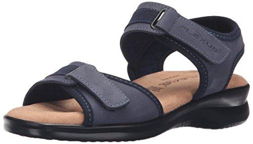 Spring Step Women's Danila Slide Sandal, Denim, 37 EU/6.5-7 M US (Sandals Spring Denim Step)