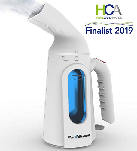 - PurSteam Travel Steamer for Clothes. Highest Quality, Fastest Heating InfaTherm Technology , 8-in-1, Wrinkle Remover- Clean- Sterilize-Refresh- Treat-, Auto Off