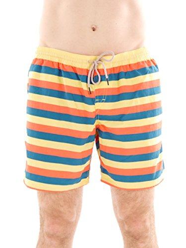 Brunotti Boardshort Swimwear Strandhose Streifen gelb Celci Tunnelzug Gr. L 161214602