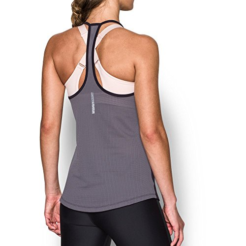 (Under Armour Women's Fly-By Racerback Tank, Imperial Purple /Reflective, Medium)