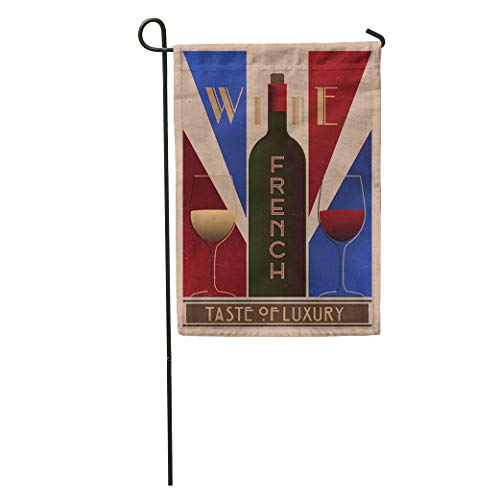 Semtomn Garden Flag Purple Here Ru Listing 508712887 French Wine Old in Retro Home Yard House Decor Barnner Outdoor Stand 28x40 Inches Flag