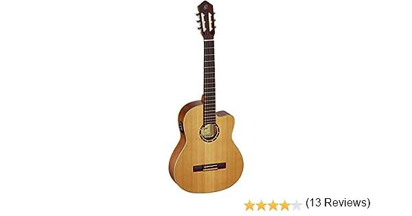 Ortega RCE131 - Guitarra electroacústica (cedro y caoba, tamaño 4 ...