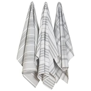 Now Designs Jumbo Pure Kitchen Towel, London Grey, Set of 3