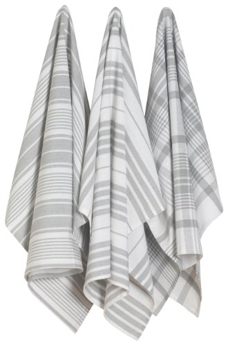 - Now Designs Jumbo Pure Kitchen Towel, London Grey, Set of 3