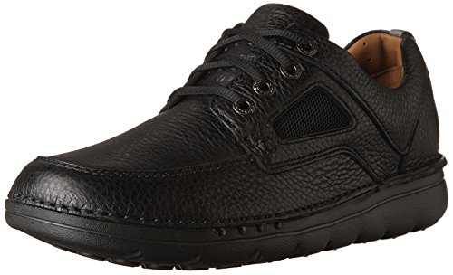 CLARKS Mens unnature Time Black Leather PNfKw
