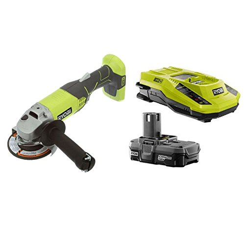 Ryobi P421 ONE+ 18V Angle Grinder with Intelliport Duel Chemistry Charger and ONE+ 18V Lithium-ion battery