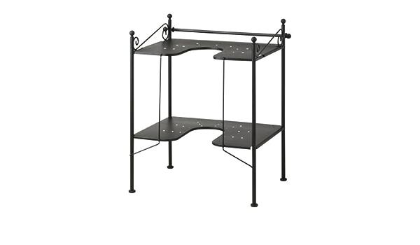 IKEA Rönnskär - estantería lavabo, negro: Amazon.es: Hogar