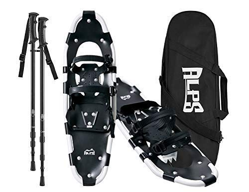ALPS Adult All Terrian Snowshoes set for Men,Women,Youth with Trekking Poles,Carrying tote Bag 22