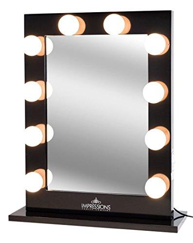 Amazon impressions vanity hollywood studio lighted make up amazon impressions vanity hollywood studio lighted make up vanity back stage mirror black x large home kitchen aloadofball Images