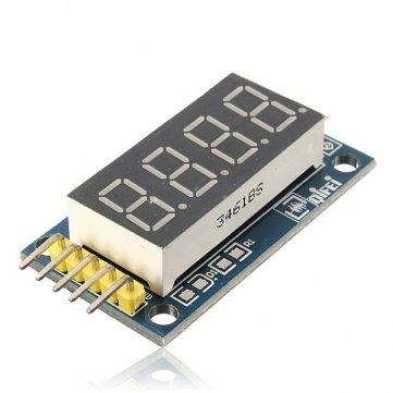 Bheema 4 puntas tabla de tubo de módulo de pantalla LED Digital con reloj para Arduino: Amazon.es: Electrónica