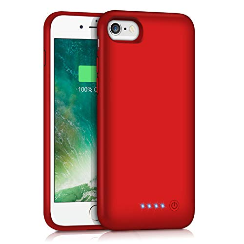 Battery Case for iPhone 6S 6 6000mAh, Rechargeable Charging Case for iPhone 6 External Charger Cover iPhone 6S Battery Pack Apple Power Bank [4.7 inch] (Red)