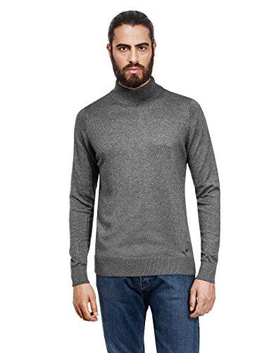 Vincenzo Boretti Men's Sweater with ribbed turtle-neck, slim-fit