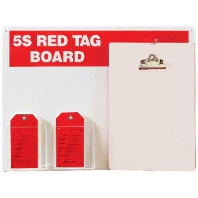 5S RED TAG BOARD WITH CLIPBOARD24'' H x 18'' W Steel (1) Dry Erase/Magnetic Board, (100) Red Tags, (1) Clipboard