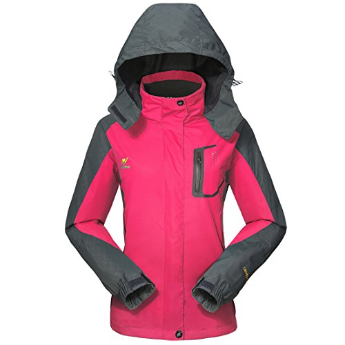 Waterproof Jacket Rain Coats for Women -GIVBRO Outdoor Hooded Softshell Camping Hiking Mountaineer Travel Windproof Jackets (Performance Rain Jacket)