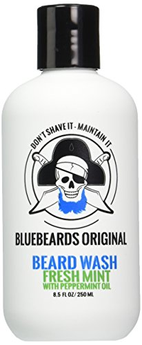 Bluebeards Original Fresh Mint Beard Wash with Peppermint Oil, 8.5 Fl Oz