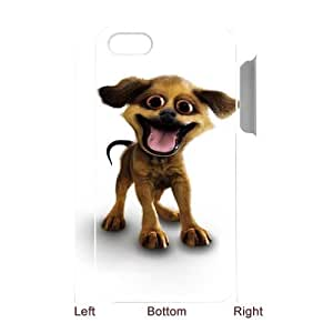 3D IPhone 4/4s Cases Funny Cool Puppy, Vety, [White]