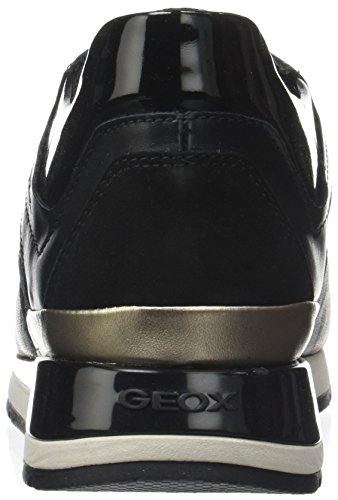 Geox Basse Nero Black Scarpe Ginnastica D da Shahira Donna B wFnrqFxU