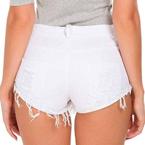 White Donne Vita Jeans Pants A Moda Di Pantaloncini Delle Alta Hot Zhuxin Sexy Foro Nightclub xU6pgp