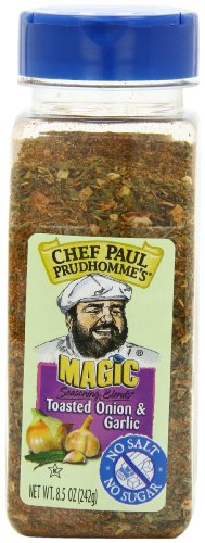 Chef Paul Prudhomme's Magic Seasoning Blends No Salt & No Sugar, Toasted Onion and Garlic, 8.5-Ounce