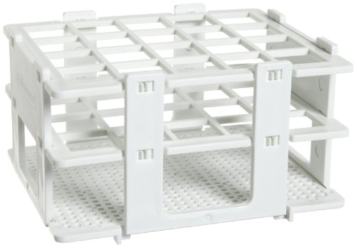 - Bel-Art F18748-0020 No-Wire Test Tube Half Rack; 16-20mm, 20 Places, 5.1 x 4.1 x 2.8 in., Polypropylene