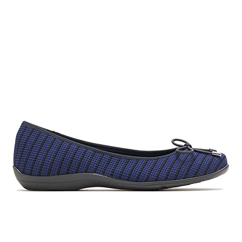 Soft Style by Hush Puppies Women's Heartbreaker Ballet Flat, Navy/Black Fabric, 8.5 M US (Hush Puppies Ladies Shoes)