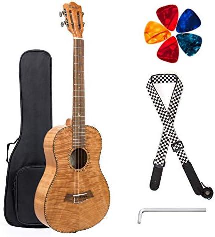 Baritone Ukulele Mahagany Ukelele Beginner Kit 30 inch 4 String DGBE TuningGig Bag Strap Uke Picks