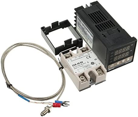 ONEVER Controlador PID Digital con MAX. 40A SSR y K termopar ...