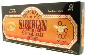 Imperial Elixir Siberian Eleuthero Extract with Royal Jelly Vials, 10 Count by Imperial ()