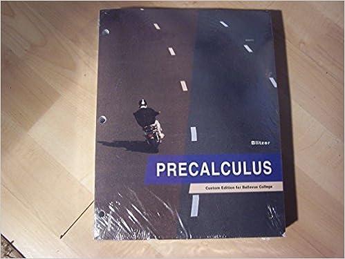 Precalculus custom edition for bellevue college amazon books fandeluxe Image collections