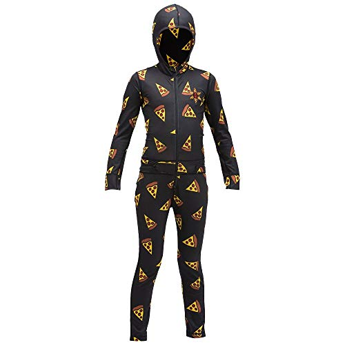 AIRBLASTER Youth Hooded Outdoor Base Layer Ninja Suit, Pizza, Medium ()