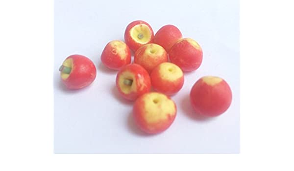 miniature 10 Red Apple Miniature Fruit for doll/'s house collection ,food