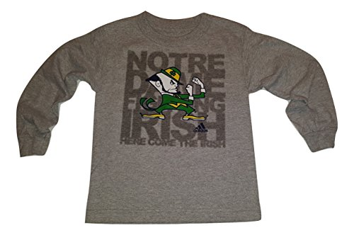 Notre Dame Fighting Irish Youth Long Sleeve Leprechaun T-Shirt (Medium 5-6)