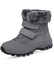 winterlaarzen waterdichte dames gevoerde laarzen met klittenband laarzen snowboots warm antislip