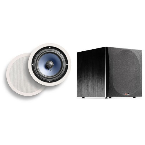 Polk Audio RC80i In-Ceiling Speakers with PSW505 Powered Sub