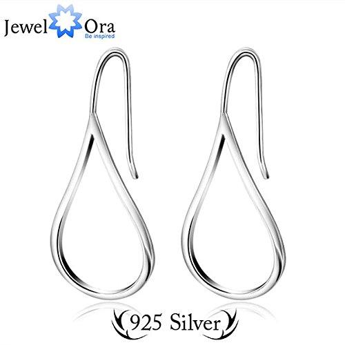 [delatcha Classic Elegant 925 Sterling Silver Lady Marquis Earrings Fashion Jewelry Drop Earrings For Women (JewelOra EA101464 )] (14k Marquis)