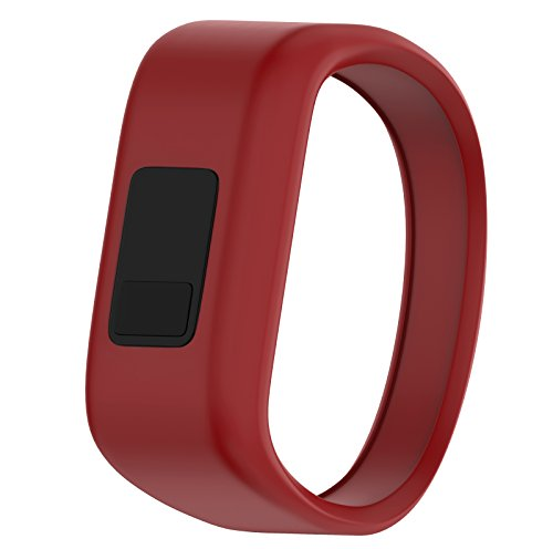 ANCOOL Compatible Garmin Vivofit JR Bands Replacement Silicone Sports Wristbands Compatible Garmin Vivofit JR/Vivofit 3(NOT Including Tracker) - Large Red
