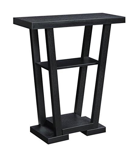 Newport Leather Bench (Convenience Concepts Newport V Console, Black)