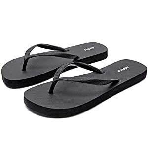 Adokoo Womens Flip Flops Slip on Sandals Beach Shoes Casual Thong Sandal