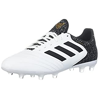 adidas  Men's Copa 18.2 FG Soccer Shoe, White/Core Black/Tactile Gold, 9.5 M US