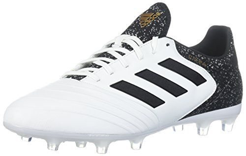 adidas Men's COPA 18.2 FG Soccer Shoe, White/core Black/Tactile Gold, 8 M US