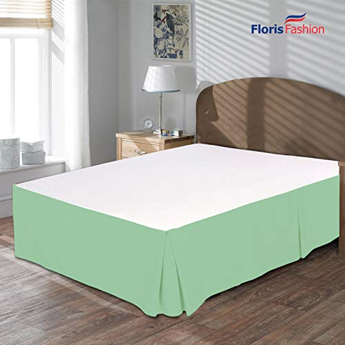 - Floris Fashion King XL Premium Egyptian Cotton Aqua Blue Solid Box Pleated Styling Classic Tailored Bedskirt Solid with Split Corners 24