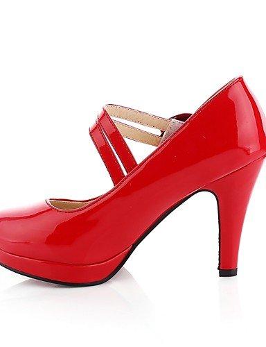Punta Trabajo Negro red 5 uk8 Oficina mujer Casual GGX cn43 us10 Cuero us10 Rojo Redonda Patentado Tacones 5 5 de eu42 5 y eu42 Tacones uk3 Cono uk8 cn34 us5 red eu35 Almendra Zapatos Tacón red cn4 ZwxPpqY