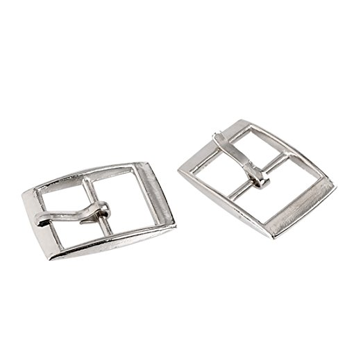 Souarts Silver Tone Color Rectangle Shoe Buckle Accessory Findings Pack of 30pcs (Needle Embellishment)