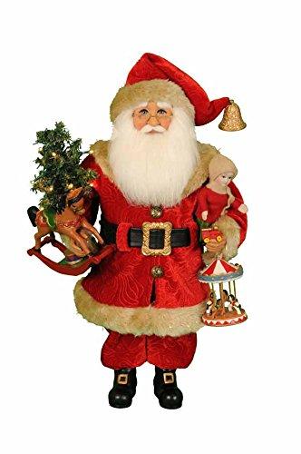 Karen Didion Lighted Carousel Dreams Santa - Didion Santa Karen