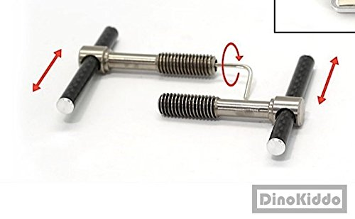 Nov carbon easy shell clamp lever ultra light weight carbon + titanium moving lever for Brompton Folding Bike - Dino Kiddo