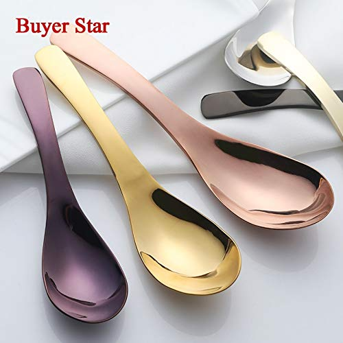 Best Quality - Flatware Sets - Pcs/Set Stainless Steel Spoons Long Handled Spoons cutlery Soup CoffeeTea Dinner Spoon Sets Kitchen accessories Flatware tools - by GTIN - 1 PCs ()