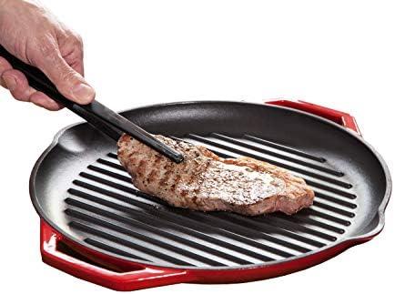 Faircookware - Sartén de hierro fundido por inducción - 32 cm de diámetro - para resultados de cocción perfectos - exterior acristalada