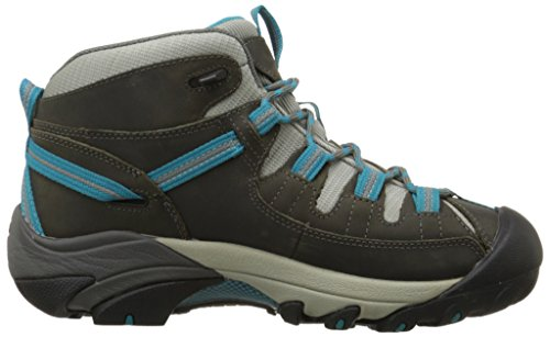 KEEN Women's Targhee II Mid Waterproof Hiking Boot,Gargoyle/Caribbean Sea,8 M US