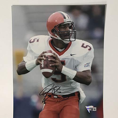 Autographed/Signed Donovan McNabb Syracuse Orange 8x10 College Football Photo Fanatics COA Holo